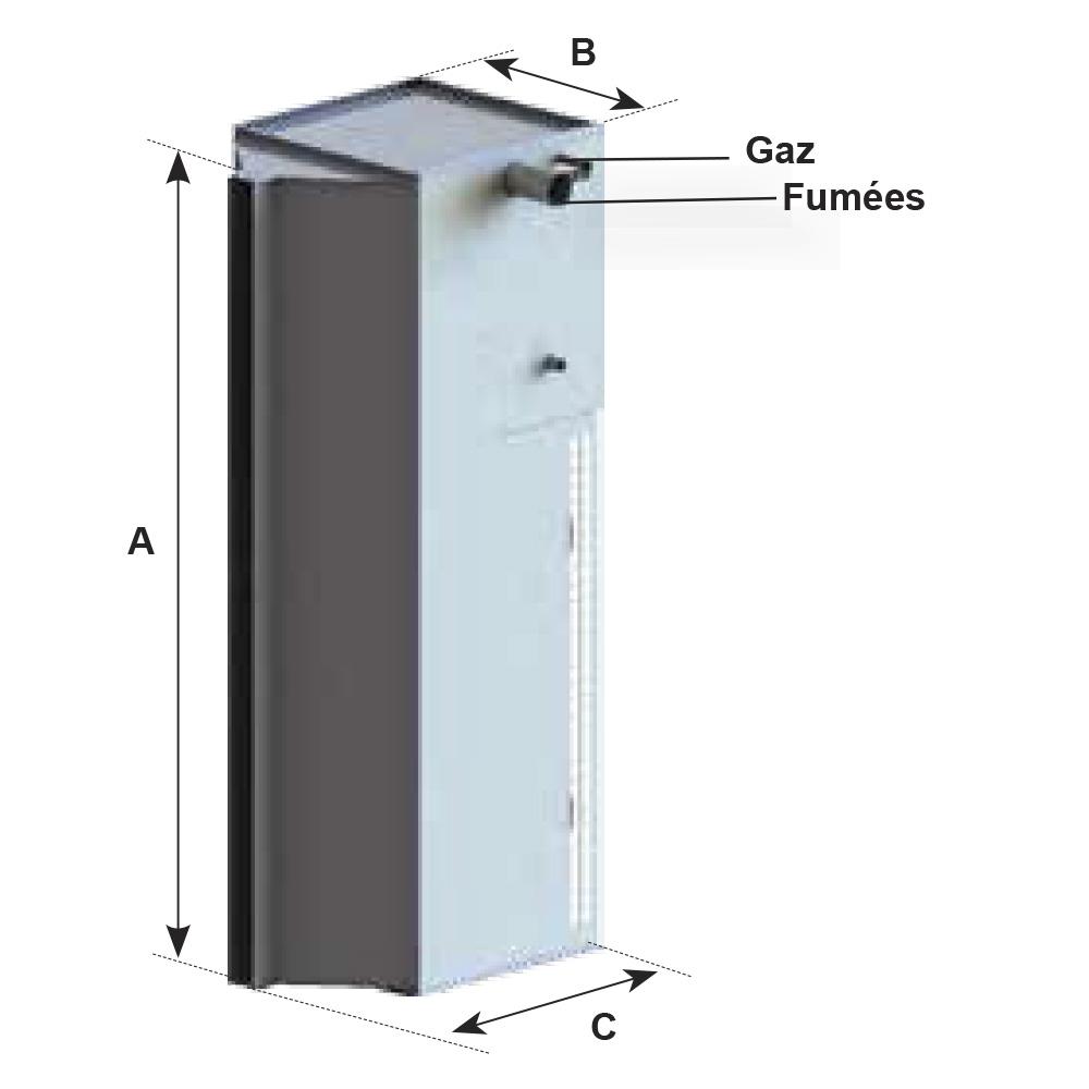 rideau d 39 air chaud gaz condensation mrx solaronics chauffage. Black Bedroom Furniture Sets. Home Design Ideas