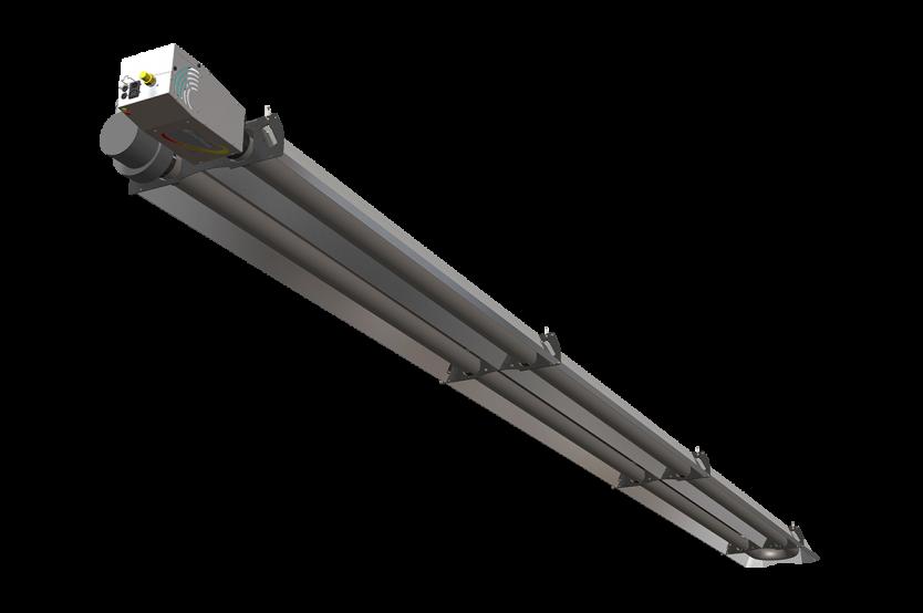 Tube radiant gaz haute performance solarhp solaronics chauffage - Chauffage radiant gaz ...